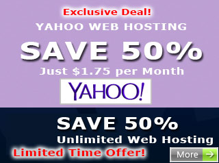 Save 50% off Yahoo Web Hosting